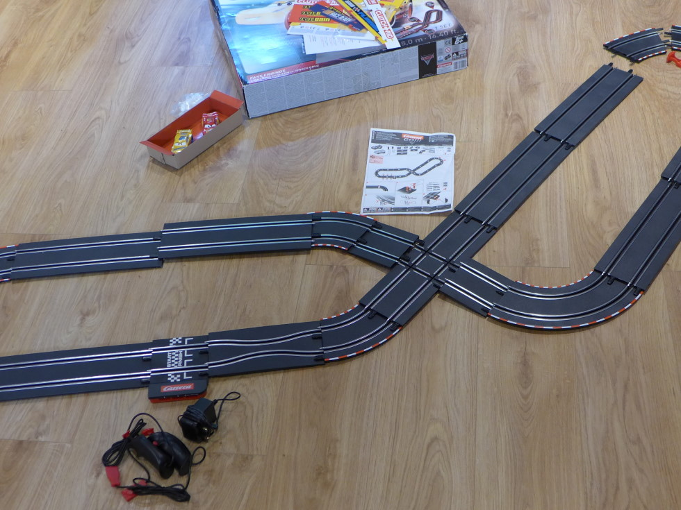 The Carrera Go! track laid out